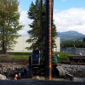 Boivin Creek Pedestrian Bridge Foundation - Pile Driving & Foundations