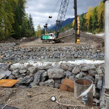 Pile Driving - New Bridge Construction