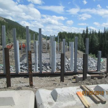 Lineham Creek Pile Foundations - New Bridge Construction